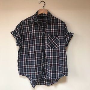 Madewell lightweight cotton courier blouse
